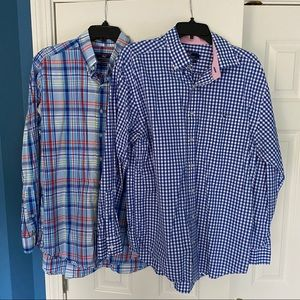 2 Vineyard Vines Long Sleeve Button Down Shirts